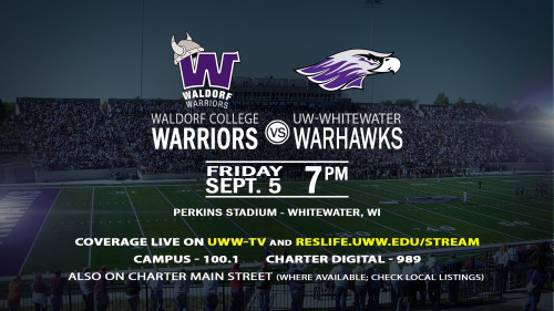 UWWTV To Televise Football Home Opener Versus Waldorf