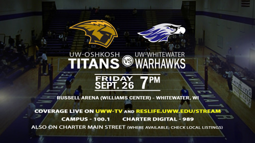 UWWTV To Televise Warhawks VS. Titans Volleyball