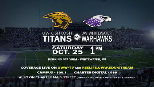 UWW-TV To Televise Homecoming Match Versus Rival Oshkosh