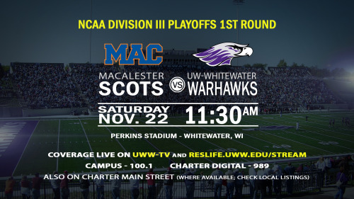 Whitewater To Welcome Macalester In First Round Of D3 Football Playoffs