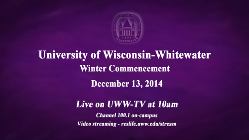 UWW-TV To Televise Commencement