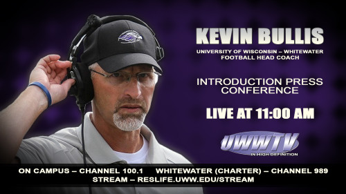 UWW-TV To Televise Kevin Bullis Press Conference