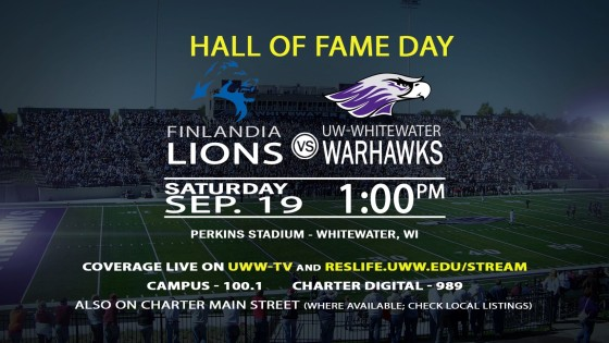 Football Returns To UWW-TV This Saturday