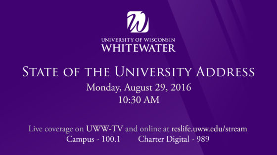 State of the University Address LIVE on UWW-TV