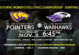 Volleyball WIAC Tournament Semifinals