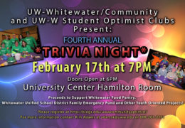 Fourth Annual Trivia Night LIVE on UWW-TV!