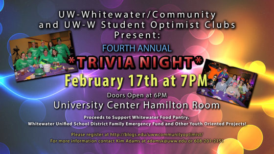 Fourth Annual Trivia Night LIVE on UWW-TV!