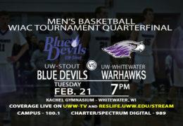 Quarterfinal Round of the WIAC Tournament LIVE on UWW-TV!