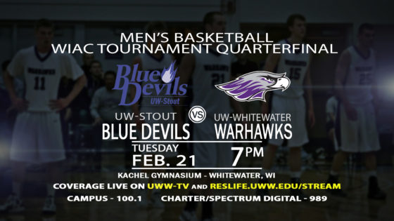 Quarterfinal Round of the WIAC Tournament LIVE on UWW-TV!