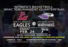 Semifinal Round of the Women's WIAC Tournament LIVE on UWW-TV!