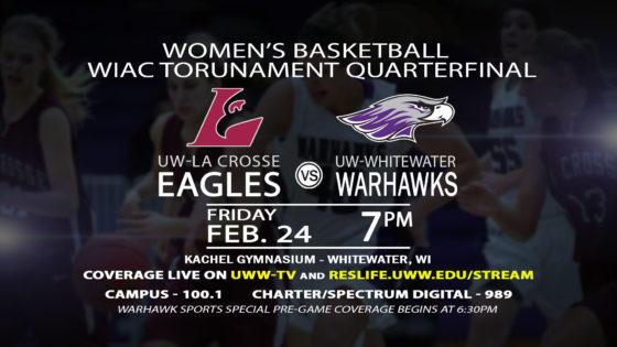 Semifinal Round of the Women's WIAC Tournament LIVE on UWW-TV!