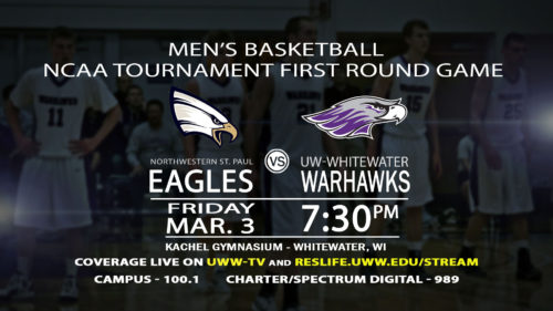 3.3.17 Coming Up Men's Bball UWW vs Eagles