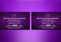 UWW-TV Goes Live for Spring Commencement Ceremonies!