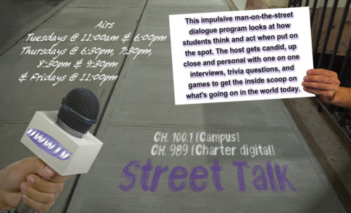 Street Talk Returns Tomorrow: Tuesday, September 26th, 2017!