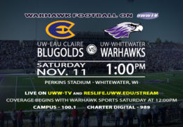 Warhawk Football Faces Off With the UW-Eau Claire Blugolds Tomorrow!