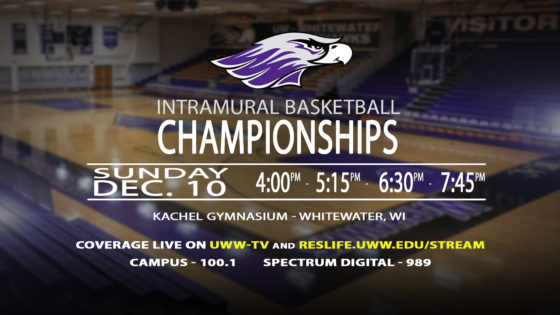 UWW-TV Brings a Day Full of LIVE Intramural Basketball Action!