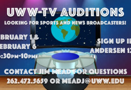 UWW-TV Talent Auditions for the Spring of 2018!