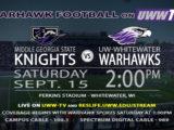 Warhawks take on  Middle Georgia State Knights, TOMORROW!