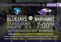 TONIGHT!!!! Warhawk Volleyball to Host the Elmhurst College Bluejays LIVE on UWW-TV!