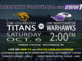 Football to Host Rival UW-Oshkosh Titans in the Family Weekend Match-up Tomorrow!