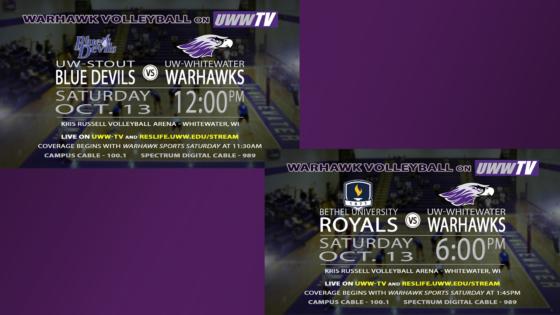 Warhawks Host Double Header Tomorrow, LIVE on UWW-TV!