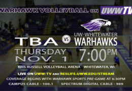 UW-Whitewater Hosts WIAC Semifinal Tomorrow, LIVE on UWW-TV!