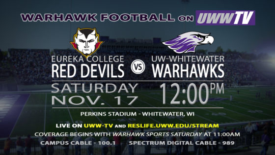 Warhawks to Host the First Round of the NCAA DIII Playoffs, TOMORROW on UWW-TV!