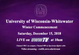 Around the Corner: UWW-TV to Broadcast Winter Commencement LIVE!