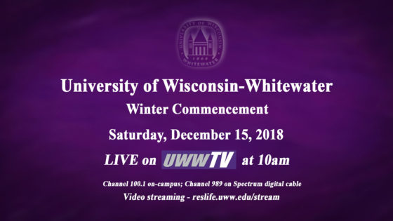 Around the Corner: UWW-TV to Broadcast Winter Commencement LIVE!