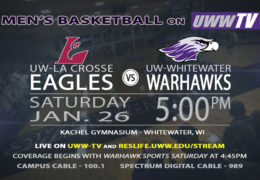 Tomorrow! UW-Whitewater Men's Basketball to Host UW-Lacrosse!