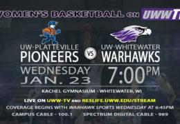 The UW-Platteville Pioneers Enter Warhawk Territory Tonight, LIVE on UWW-TV!