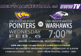 Men's Basketball to Host UW-Stevens Point, Tomorrow LIVE on UWW-TV!