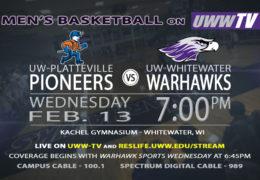 Warhawk Men's Basketball to Host UW-Platteville Pioneers, Tomorrow LIVE on UWW-TV!