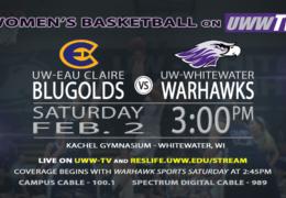 UW-Whitewater Lady Warhawks to Host UW-Eau Claire Blugolds, Tomorrow, LIVE on UWW-TV!