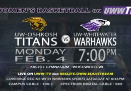 UW-Whitewater Women's Basketball to host UW-Oshkosh in Postponement Game!
