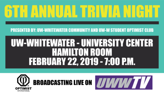Whitewater's Annual Optimist Trivia Night!