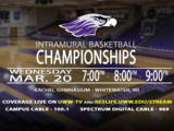 The Spring 2019 Intramural Basketball Championships are Coming to You LIVE on UWW-TV!