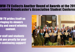 UWW-TV Recognized in Four Areas of Focus at 2019 WBA Student Conference!