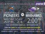 Tomorrow, UW-Whitewater Women's Softball to Host Platteville in Double-Header.