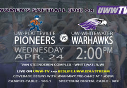 Tomorrow, UW-Whitewater Women's Softball to Host Platteville in Double-Header.