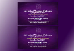 UWW-TV to Broadcast Spring 2019 Commencement LIVE!