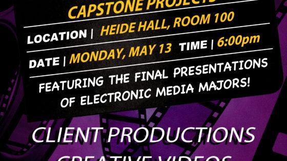 Recap: Spring, 2019 Electronic Media Capstone Presentations