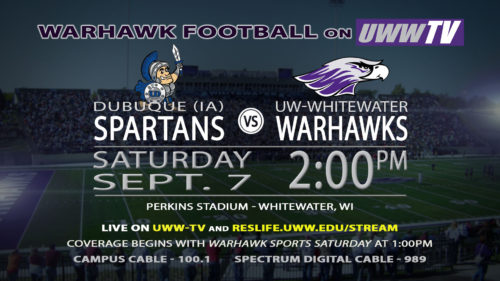 UWW-TV Broadcasting Warhawk Football This Saturday LIVE!
