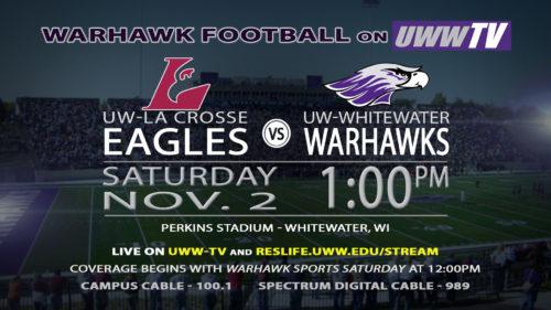 UWW-TV Broadcasting Warhawk Football This Saturday LIVE!