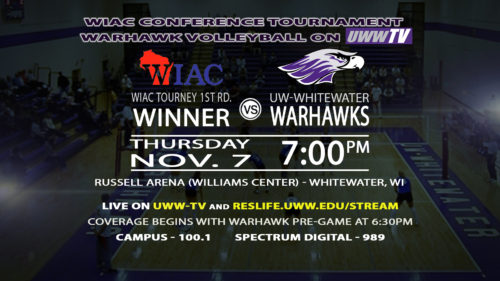 UWW-TV Broadcasting Womens Volleyball WIAC Semifinals Tonight LIVE!