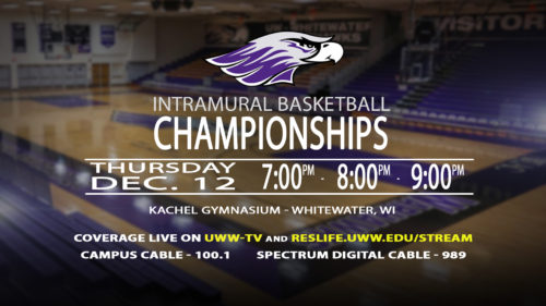 UWW-TV Broadcasting Intramural Basketball Championships This Thursday LIVE!