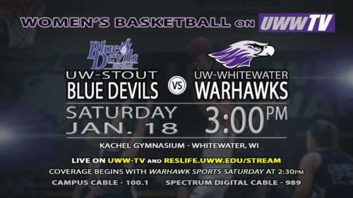 UWW-TV Broadcasting Warhawk Women's Basketball This Saturday LIVE!