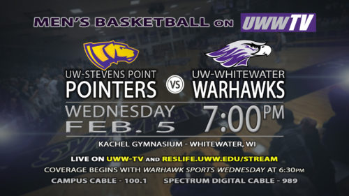 UWW-TV Broadcasting Warhawk Men's Basketball This Wednesday LIVE!