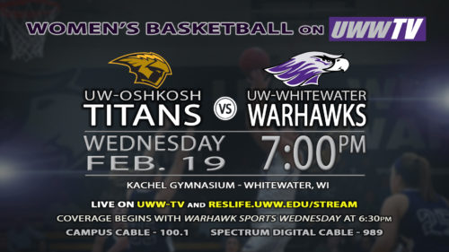 UWW-TV Broadcasting Warhawk Women's Basketball This Wednesday LIVE!