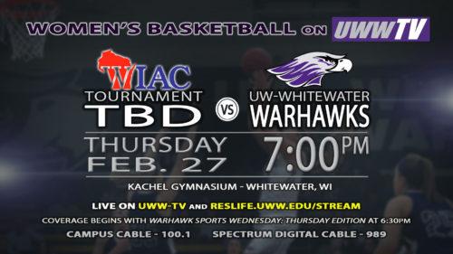 Women's Basketball Team Hosting WIAC Tournament Semi-Final